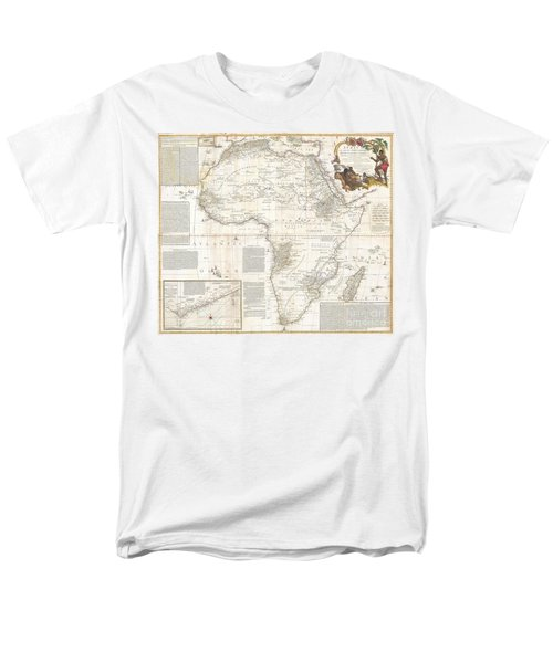 1787 Boulton  Sayer Wall Map Of Africa Men's T-Shirt  (Regular Fit) by Paul Fearn