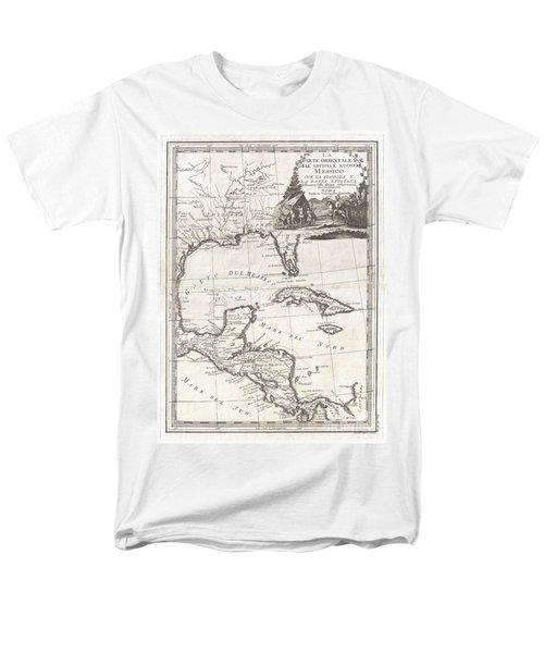 1798 Cassini Map Of Florida Louisiana Cuba And Central America Men's T-Shirt  (Regular Fit) by Paul Fearn