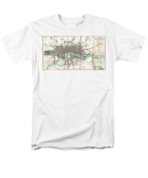1806 Mogg Pocket Or Case Map Of London Men's T-Shirt  (Regular Fit) by Paul Fearn