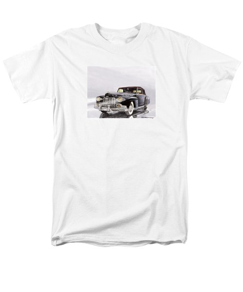 1946 Lincoln Continental Convertible Foggy Reflection Men's T-Shirt  (Regular Fit) by Jack Pumphrey
