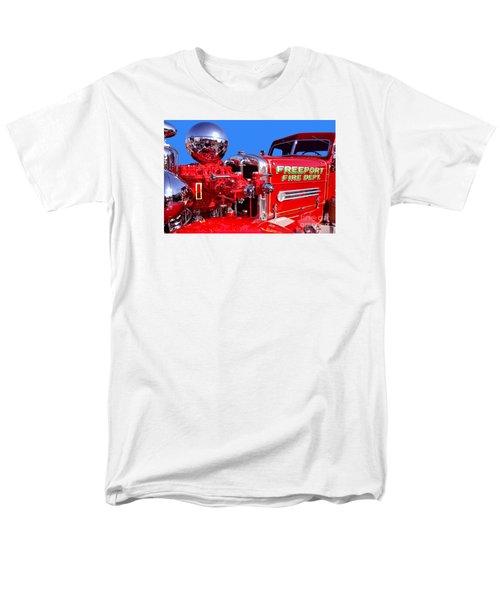 1949 Ahrens Fox Piston Pumper Fire Truck Men's T-Shirt  (Regular Fit) by Jim Carrell