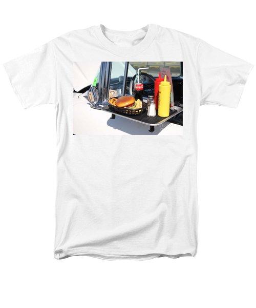 1950's Drive In Movie Snack Tray Men's T-Shirt  (Regular Fit) by John Telfer