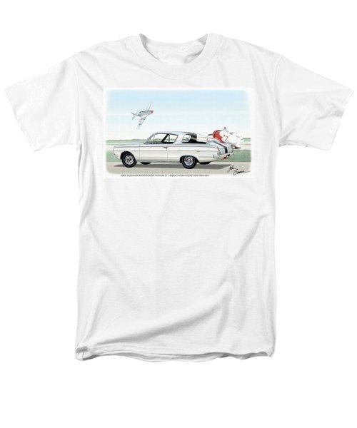 1965 Barracuda  Classic Plymouth Muscle Car Men's T-Shirt  (Regular Fit) by John Samsen