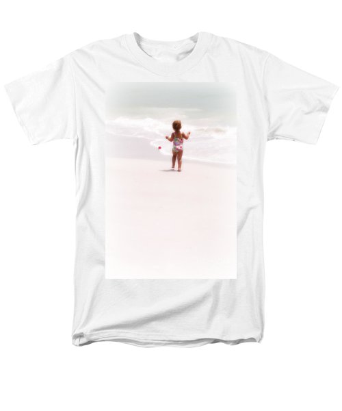 Men's T-Shirt  (Regular Fit) featuring the digital art Baby Chases Red Ball by Valerie Reeves