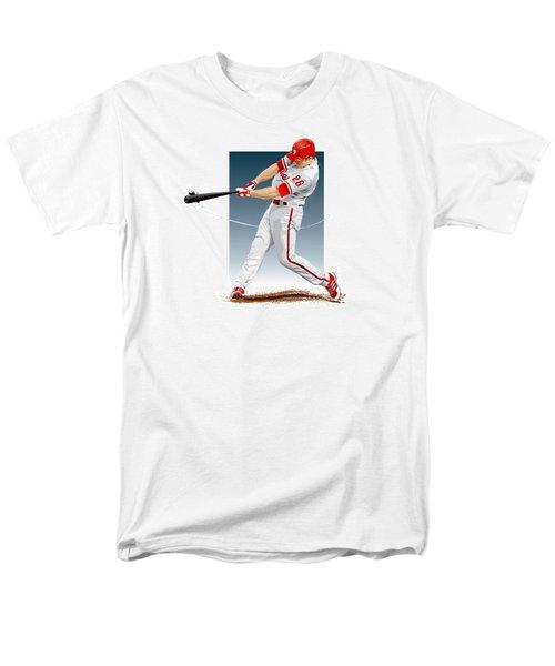 Men's T-Shirt  (Regular Fit) featuring the digital art Chase Utley by Scott Weigner