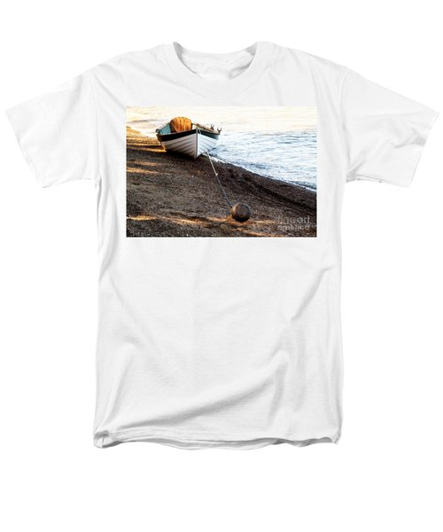 China Beach Rowboat Men's T-Shirt  (Regular Fit) by Roselynne Broussard