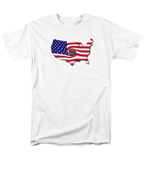 Men's T-Shirt  (Regular Fit) featuring the digital art Down The Drain by Scott Ross