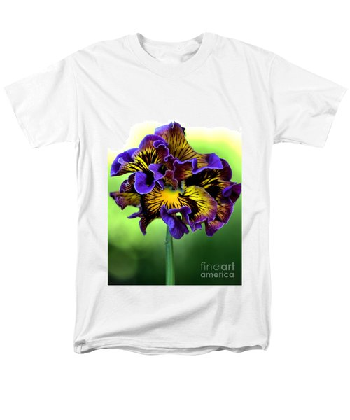 Frilly Pansy Men's T-Shirt  (Regular Fit) by Joy Watson