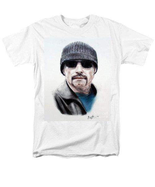 John Travolta In The Taking Of Pelham 123  Men's T-Shirt  (Regular Fit) by Jim Fitzpatrick