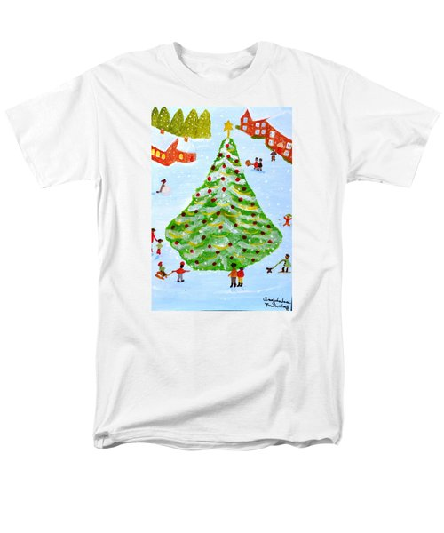 Merry Christmas Men's T-Shirt  (Regular Fit) by Magdalena Frohnsdorff