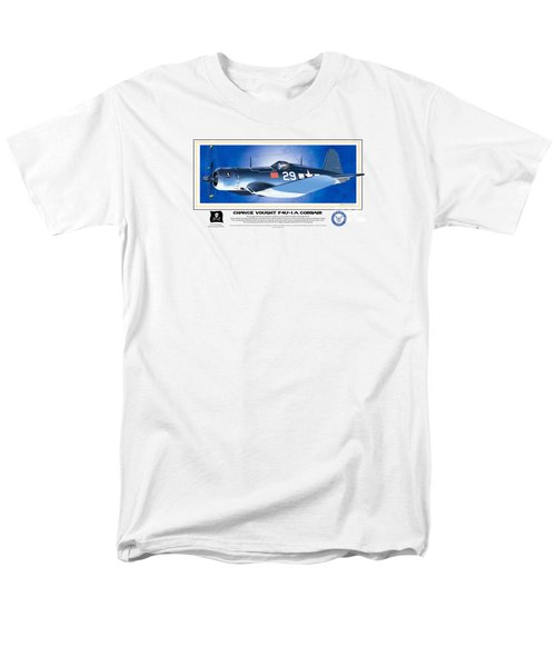 Men's T-Shirt  (Regular Fit) featuring the drawing Navy Corsair 29 by Kenneth De Tore