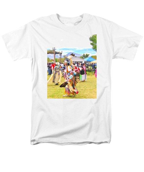 Paiute Powwow Men's T-Shirt  (Regular Fit) by Marilyn Diaz