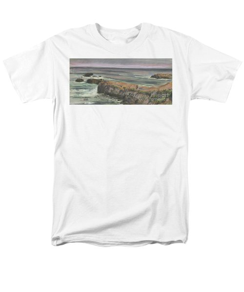 Men's T-Shirt  (Regular Fit) featuring the painting Pescadero Beach by Donald Maier