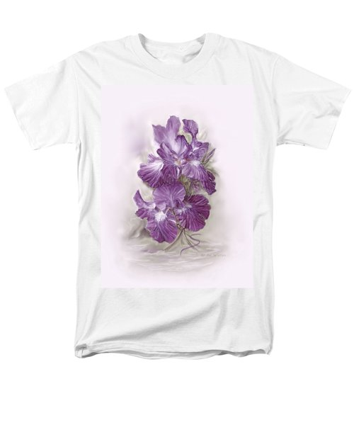 Purple Iris Men's T-Shirt  (Regular Fit) by Bonnie Willis