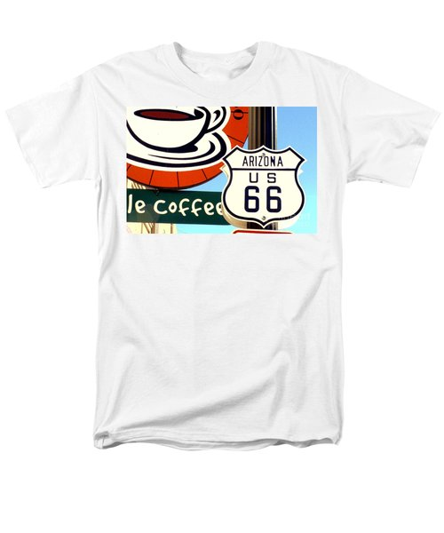 Men's T-Shirt  (Regular Fit) featuring the digital art Route 66 Coffee by Valerie Reeves