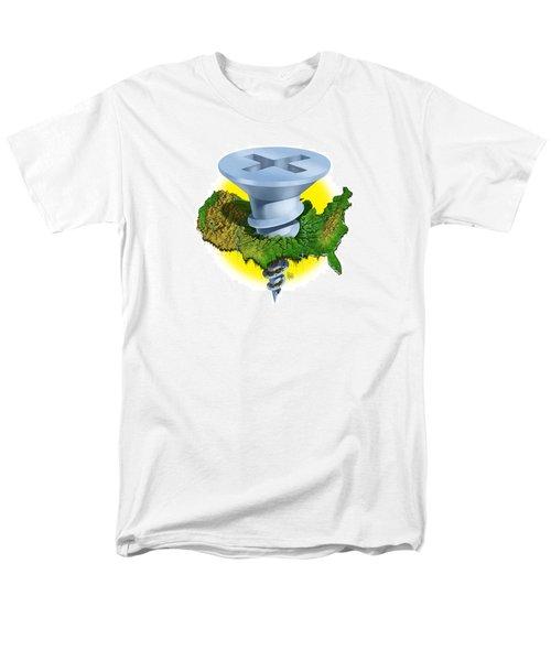 Men's T-Shirt  (Regular Fit) featuring the digital art Screwed by Scott Ross