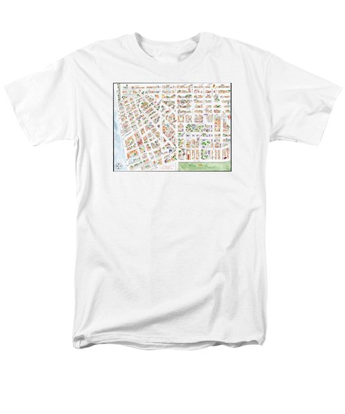 The Greenwich Village Map Men's T-Shirt  (Regular Fit) by AFineLyne