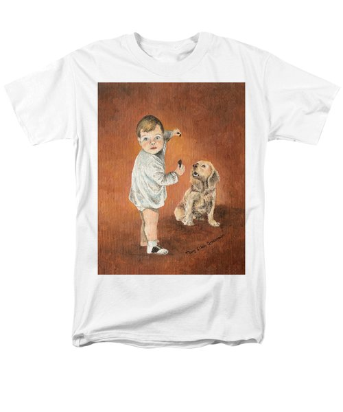 Men's T-Shirt  (Regular Fit) featuring the painting The Guilty Ones by Mary Ellen Anderson