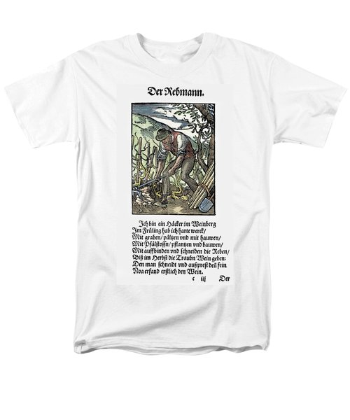 Men's T-Shirt  (Regular Fit) featuring the painting Vinegrower, 1568 by Granger