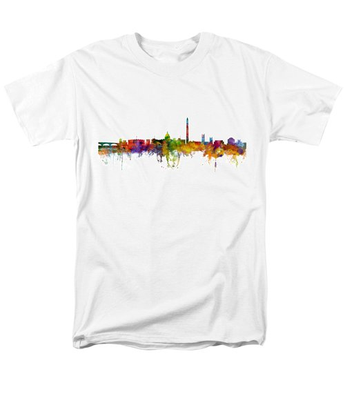 Washington Dc Skyline Men's T-Shirt  (Regular Fit) by Michael Tompsett