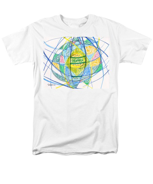 2013 Abstract Drawing #2 Men's T-Shirt  (Regular Fit) by Lynne Taetzsch
