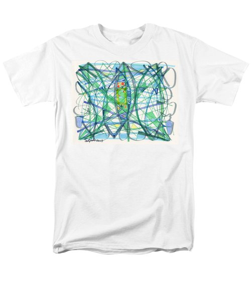 2013 Abstract Drawing #23 Men's T-Shirt  (Regular Fit) by Lynne Taetzsch