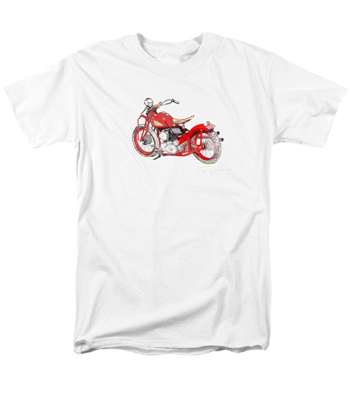 Men's T-Shirt  (Regular Fit) featuring the drawing 37 Chief Bobber by Terry Frederick