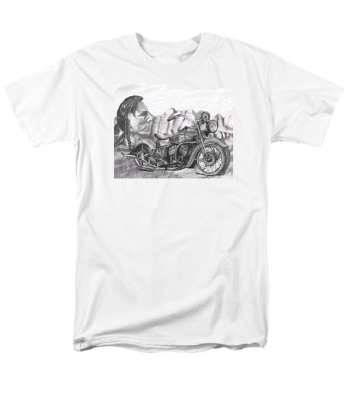 Men's T-Shirt  (Regular Fit) featuring the drawing 39 Scout by Terry Frederick