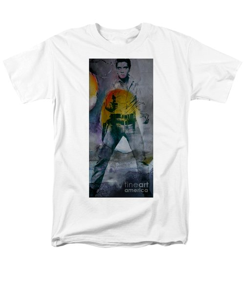 Men's T-Shirt  (Regular Fit) featuring the mixed media Elvis by Marvin Blaine