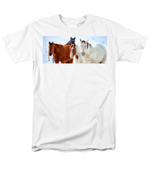 4 Horses Men's T-Shirt  (Regular Fit) by John McArthur