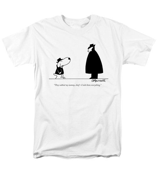 They Rubbed My Tummy Men's T-Shirt  (Regular Fit) by Charles Barsotti