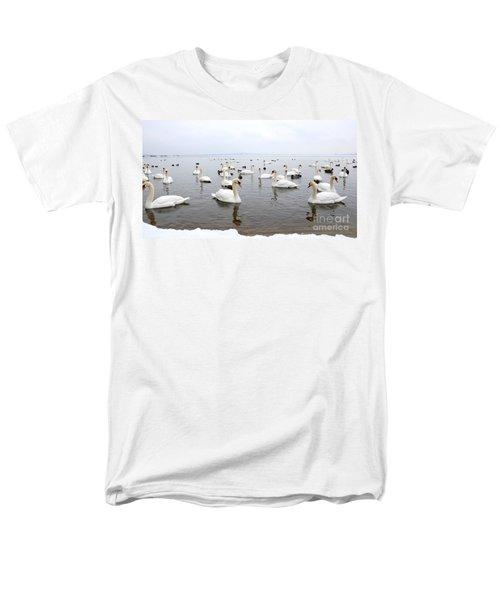 60 Swans A Swimming Men's T-Shirt  (Regular Fit) by Laurel Best