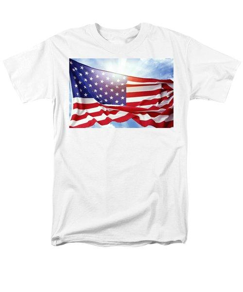 American Flag Men's T-Shirt  (Regular Fit) by Les Cunliffe