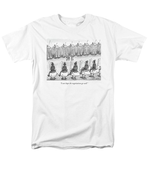 I Sure Hope The Negotiations Go Well Men's T-Shirt  (Regular Fit) by Jason Patterson