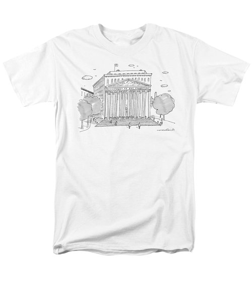 A Building In Washington Dc Is Shown Men's T-Shirt  (Regular Fit) by Michael Crawford