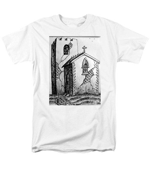 Men's T-Shirt  (Regular Fit) featuring the painting Old Church by Salman Ravish