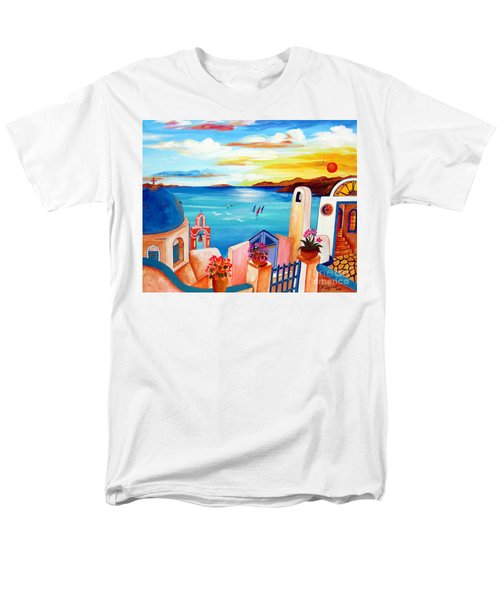 A Greek Seaview Men's T-Shirt  (Regular Fit)
