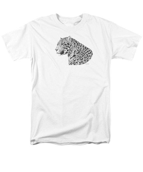 Men's T-Shirt  (Regular Fit) featuring the drawing A Leopard's Watchful Eye by Patricia Hiltz
