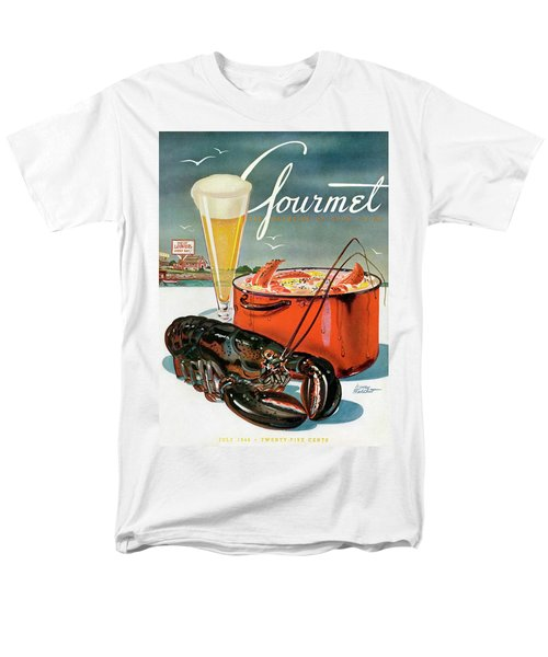 A Lobster And A Lobster Pot With Beer Men's T-Shirt  (Regular Fit) by Henry Stahlhut
