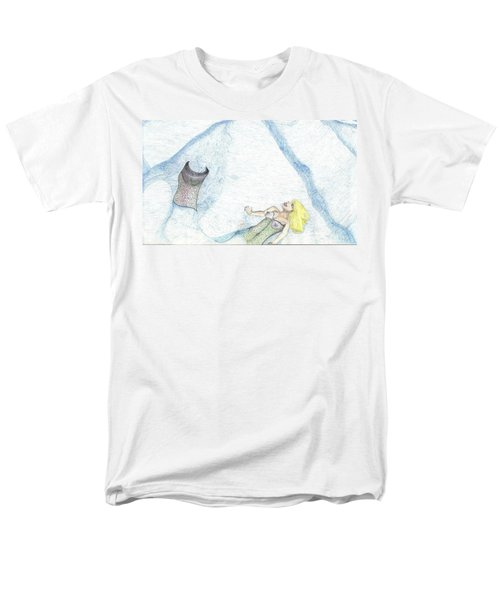 Men's T-Shirt  (Regular Fit) featuring the drawing A Mermaids Moment by Kim Pate