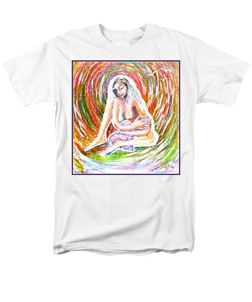 Men's T-Shirt  (Regular Fit) featuring the mixed media A Safe Heart by Leanne Seymour