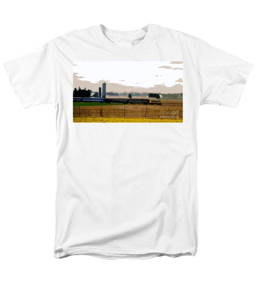 Men's T-Shirt  (Regular Fit) featuring the photograph A Train Runs Through It by Nina Silver