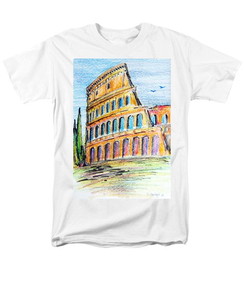 A View Of The Colosseo In Rome Men's T-Shirt  (Regular Fit)