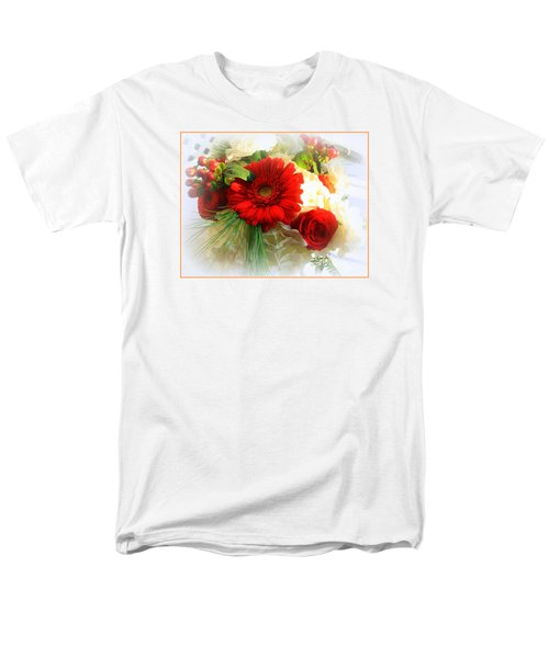 A Vision In Red Men's T-Shirt  (Regular Fit) by Dora Sofia Caputo Photographic Art and Design