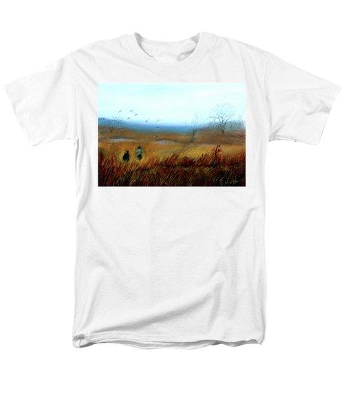 Men's T-Shirt  (Regular Fit) featuring the painting A Winter Walk by Gail Kirtz