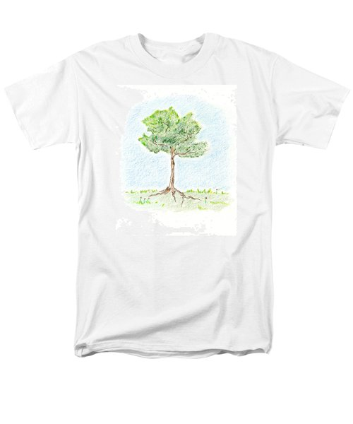 Men's T-Shirt  (Regular Fit) featuring the drawing A Young Tree by Keiko Katsuta