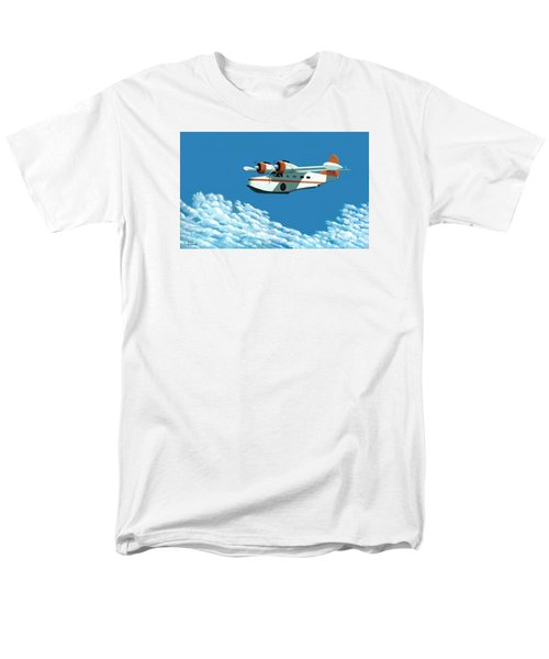 Above It All  The Grumman Goose Men's T-Shirt  (Regular Fit) by Gary Giacomelli