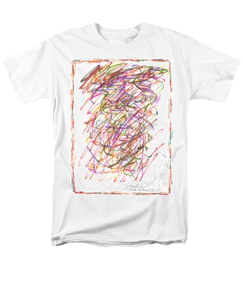 Men's T-Shirt  (Regular Fit) featuring the painting Abstract Confetti Celebration by Joseph Baril