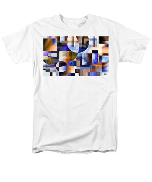 Men's T-Shirt  (Regular Fit) featuring the painting Abstract In Blue by Curtiss Shaffer