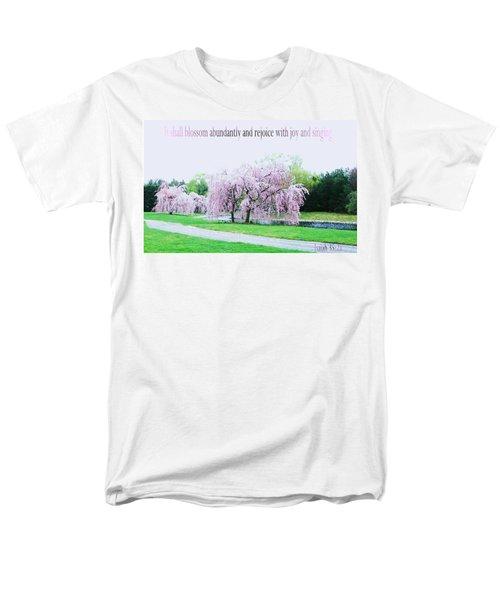 Men's T-Shirt  (Regular Fit) featuring the photograph Abundant Blossom by Pamela Hyde Wilson